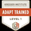 ADAPT Level One Trained Badge